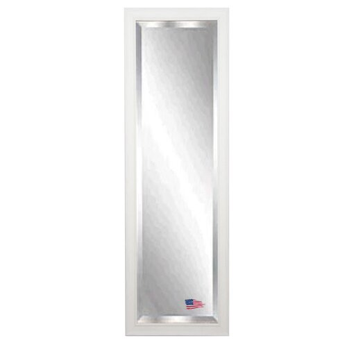 Jovie jane coastal white full length beveled body mirror for White full length mirror