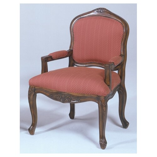 Bernards French Provincial Fabric Arm Chair