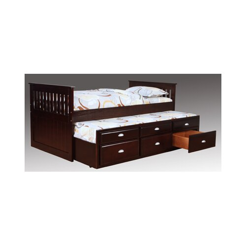 Bernards Captains Bed in Espresso