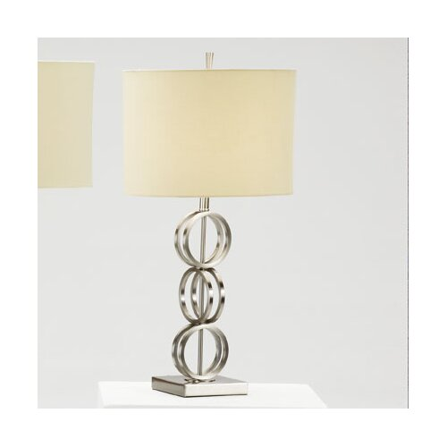 "Bernards 3 Ring 28.5"" H Table Lamp with Drum Shade"