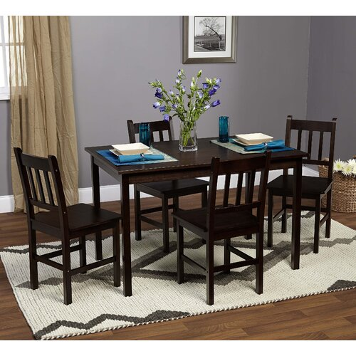 Bamboo 5 Piece Dining Set
