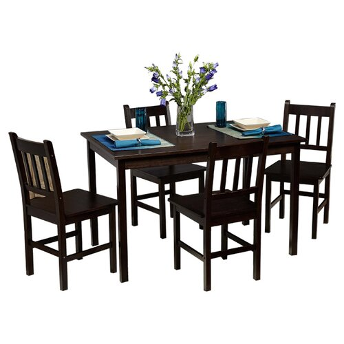 TMS Bamboo 5 Piece Dining Set