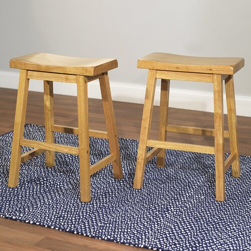 "TMS 24"" Belfast Saddle Bar Stool"
