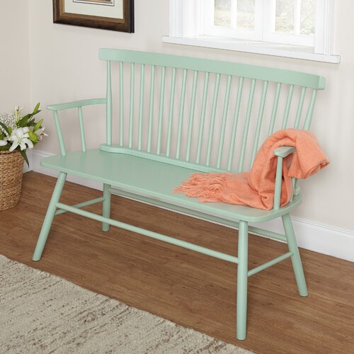 Nantucket Storage Bench Cottage Style Solid Wood 15: TMS Shelby Rubber Wood Bedroom Bench & Reviews