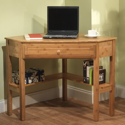 TMS Bamboo Corner Writing Desk