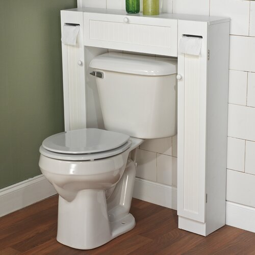 Tms 34 x 38 5 over the toilet cabinet reviews wayfair for Over the toilet cabinet