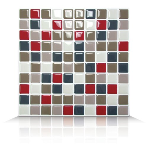 Mosaik Self Adhesive Wall Tile in Mocha (Set of 6)