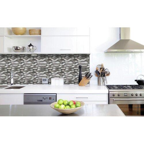 Smart Tiles Mosaik Self Adhesive Wall Tile in Metallic