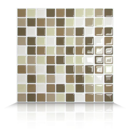 Mosaik Self Adhesive Wall Tile in Harmony (Set of 6)