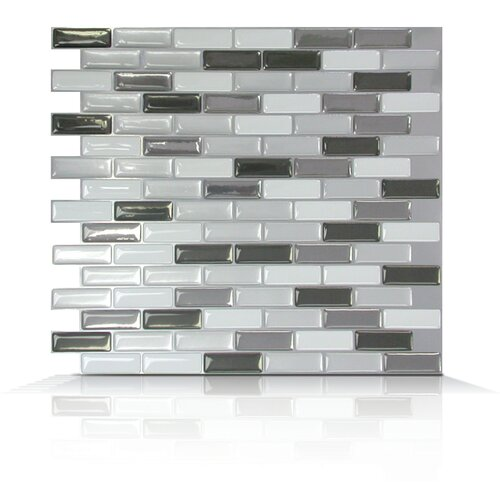 Mosaik Self Adhesive Wall Tile in Metallic