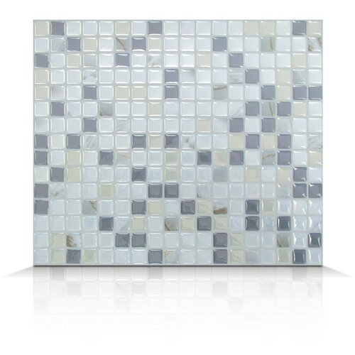 Mosaik Self Adhesive Wall Tile in Minimo Noche (Set of 6)