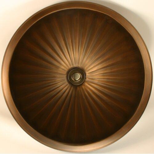 Linkasink Bronze Large Round Fluted Bathroom Sink