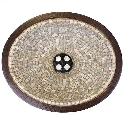 Linkasink Small Oval Mosaic Bathroom Sink