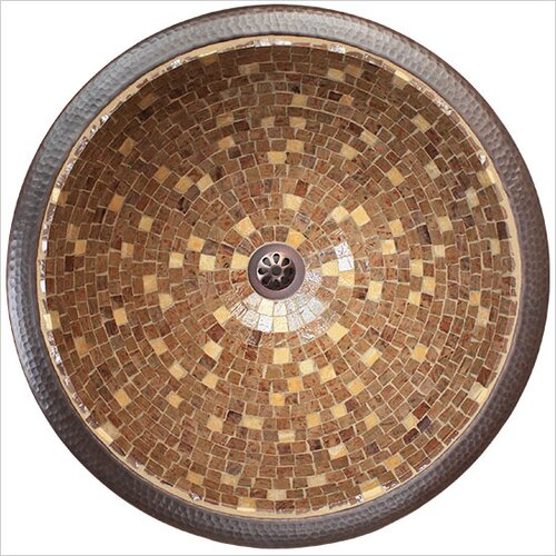 Large Round Mosaic Bathroom Sink