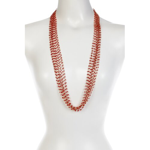 KC Signatures Seed Beaded Layered Necklace