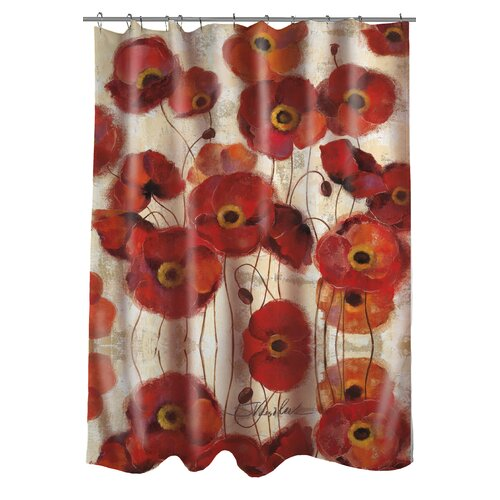 Thumbprintz Bold Poppies Shower Curtain & Reviews | Wayfair