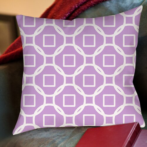 Modern Geometric Lavender Printed Pillow