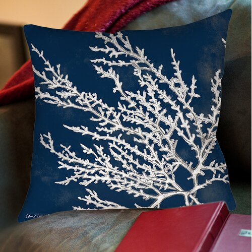 Coastal Coral Printed Pillow