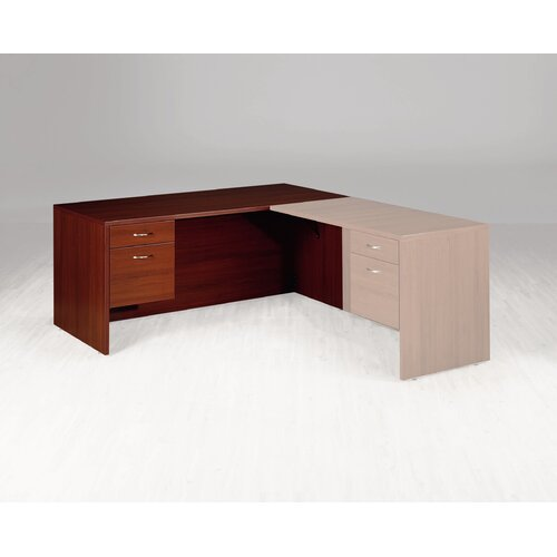 "High Point Furniture Hyperwork 72""W Single Pedestal Executive Desk Credenza"