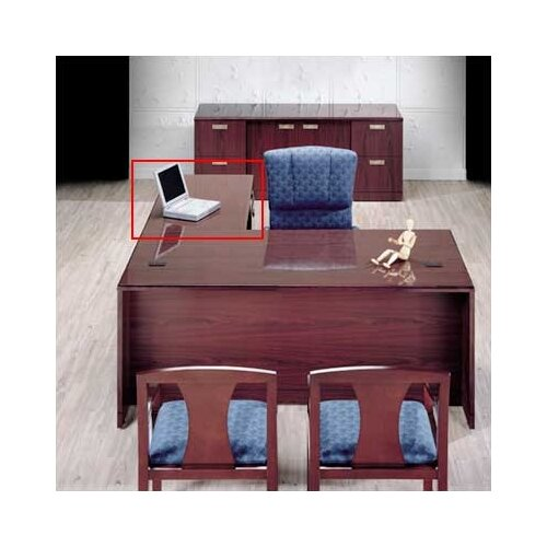 "High Point Furniture Vitality 29"" H x 48"" W 3/4 Pedestal Desk Height Right Desk Return"