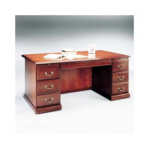 High Point Furniture Legacy Executive Desk with Double Pedestal