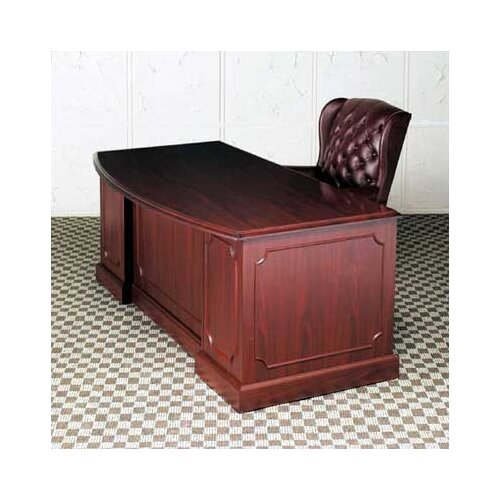 High Point Furniture Bedford Single Pedestal Bow Front Executive Desk