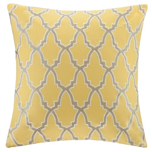 Intelligent Design Embroidered Square Pillow
