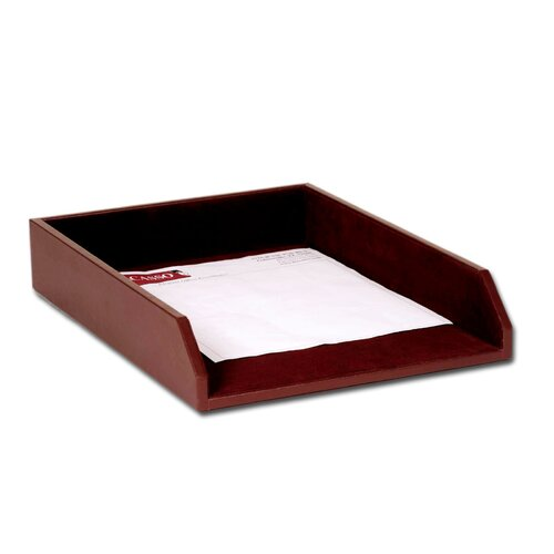 Dacasso 1000 Series Classic Leather Front-Load Legal Tray in Chocolate Brown