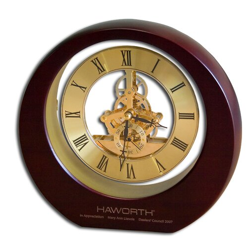 Dacasso Birchwood and Metal Eclipse Desk Clock