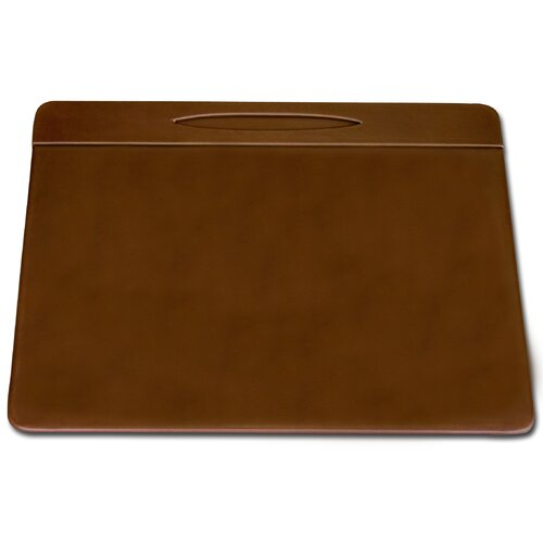 Dacasso 3200 Series Leather 17 x 14 Pen Well Conference Pad in Rustic Brown