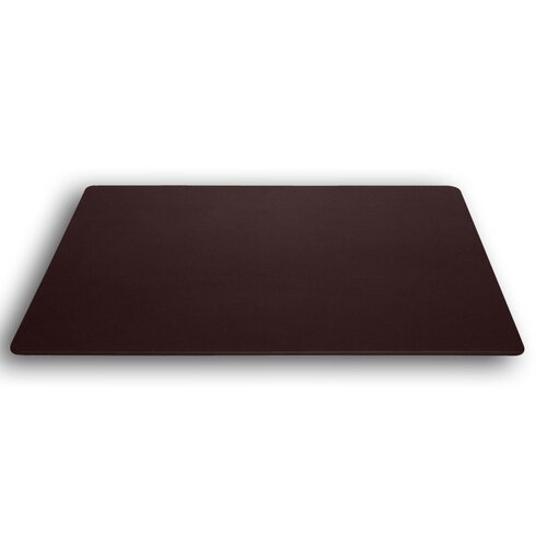 Dacasso 1000 Series Classic Leather 38 x 24 Desk Mat without Rails in Chocolate Brown