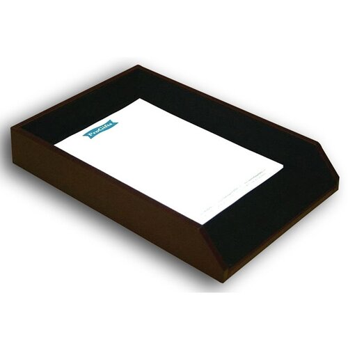 Dacasso 7000 Series Contemporary Leather Front-Load Legal Tray in Burgundy