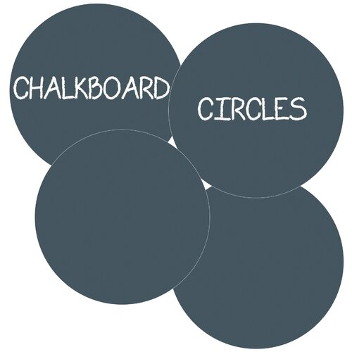 WallCandy Arts Chalkboard Circles Removable Wall Decal