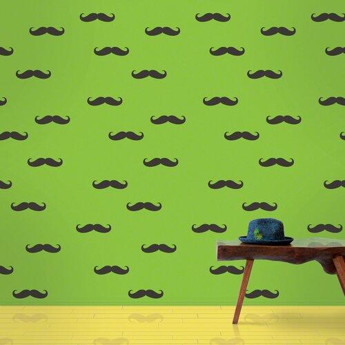 WallCandy Arts Mustache Wallpaper