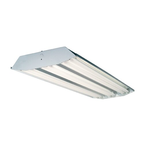 T8 High Bay Fluorescent Light Fixture: 6 Light High Bay Fluorescent Light Fixture