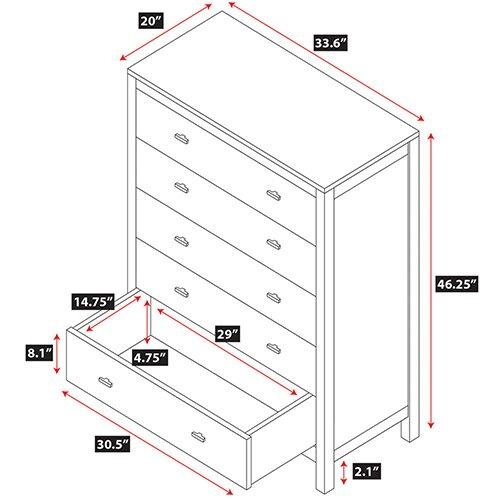 Epoch Design Parkrose 5 Drawer Chest