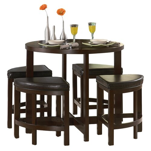 Woodbridge Home Designs Brussel II 5 Piece Counter Height Dining Set