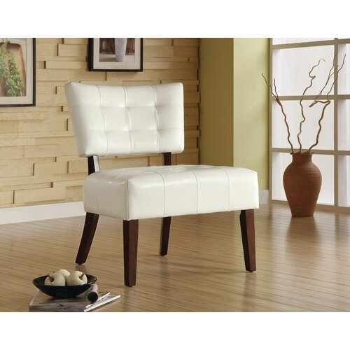 Woodbridge Home Designs Warner Vinyl Slipper Chair Reviews Wayfair