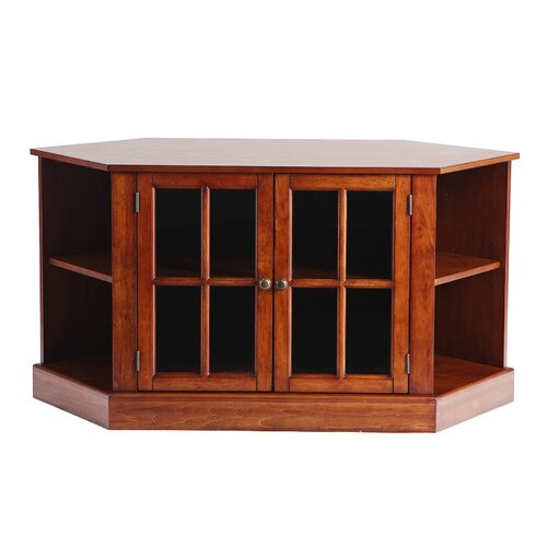 "Woodbridge Home Designs Woodard Corner Media/ Storage & 46"" TV Stand in Walnut"