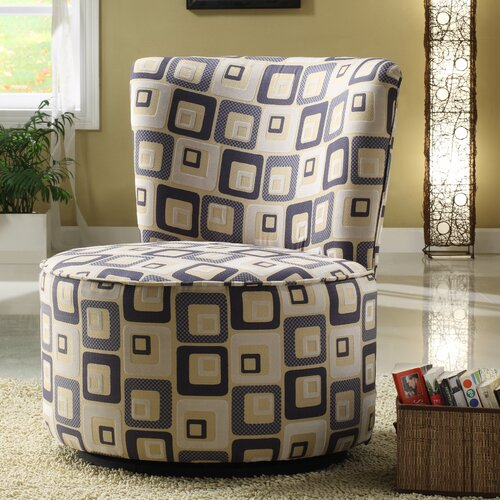Blue Geometric Easton Chair
