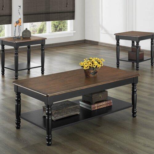 Ohana 3 Piece Coffee Table Set