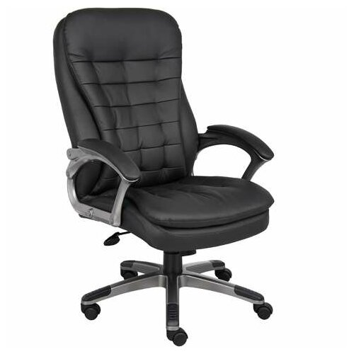 Rosewill High Back Executive Chair with Pewter Finished Base and Arms