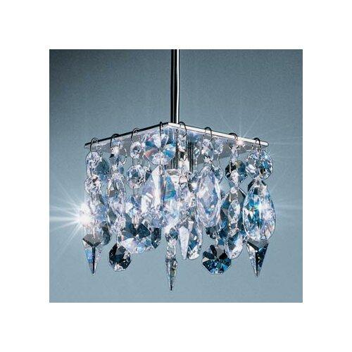 Cristello 1 Light Mini Pendant with Canopy