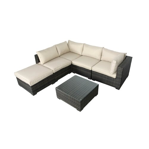 South Hampton 6 Piece Wicker Sectional Seating Group Wayfair
