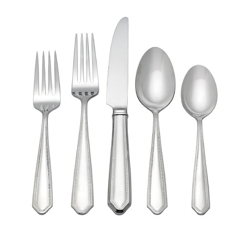 5 Piece Crestridge Bead Flatware Set
