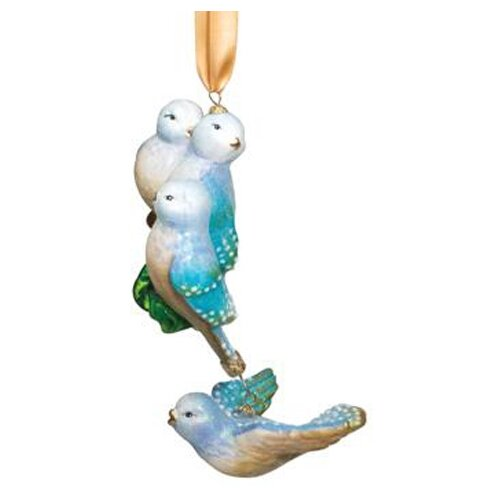 Reed & Barton Blown Glass Ornaments Four Calling Birds