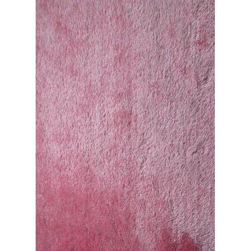 Shaggy Viscose Solid Pink Rug