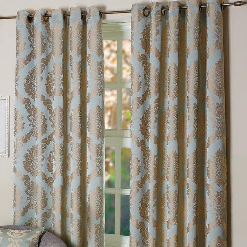 elizabeth lined eyelet curtains wayfair uk