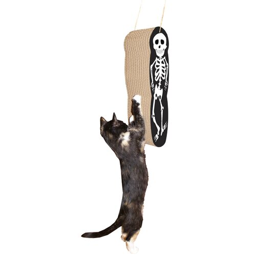 Imperial Cat Skeleton Hanging Recycled Paper Scratching Board