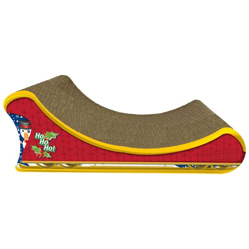 Santa's Sleigh Recycled Paper Cat Scratching Board